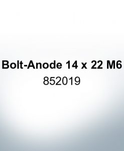 Anodes compatible to Volvo Penta | Bolt-Anode 14 x 22 M6 852019 (Zinc)