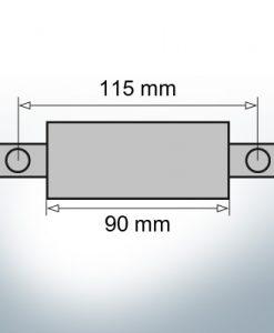 Block- and Ribbon-Anodes Square L90/115 (Zinc)