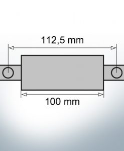 Block- and Ribbon-Anodes Oval L100/112,5 (Zinc)