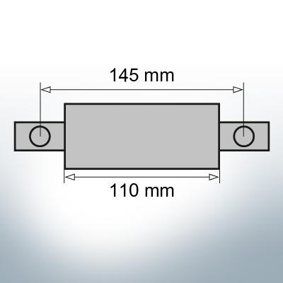 Block- and Ribbon-Anodes Square L110/145 (Zinc)