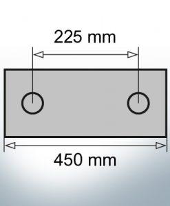 Block- and Ribbon-Anodes Block L450/225 (Zinc)