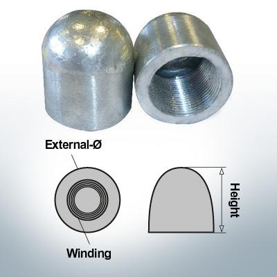 Nut-Caps M27x1,5 Ø35/H40 (Zinc)