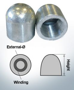 Nut-Caps M30x1,5 Ø45/H40 (Zinc)