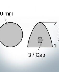 Three-Hole-Caps Ø50/H65 (Zinc)
