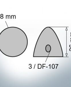 Three-Hole-Caps | DF-107 Ø78/H36 (AlMg10)