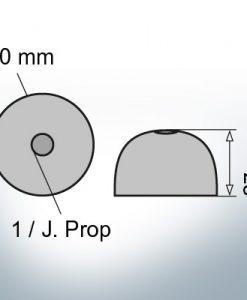 One-Hole-Caps | J. Prop Ø60/H27 (Zinc)
