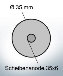 Disk-Anodes 35x6 Ø35 mm (Zinc)