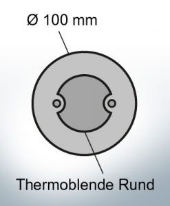 Thermocover round Ø100 mm (Zinc)