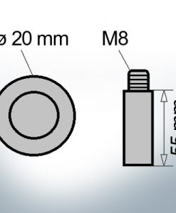Bolt-Anodes M8 Ø20/L55 (AlMg10)