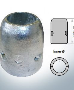 Shaft-Anode with metric inner diameter 25 mm (AlMg10)