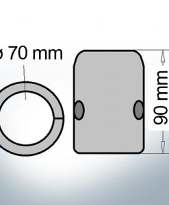 Shaft-Anode with metric inner diameter 70 mm (Zinc)