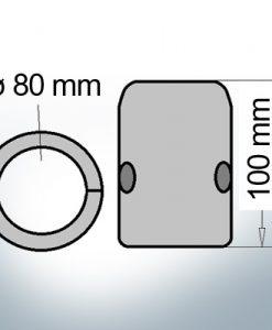 Shaft-Anode with metric inner diameter 80 mm (Zinc)