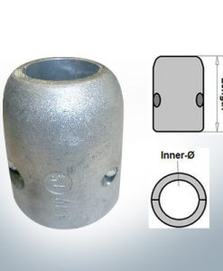 Shaft-Anodes with imperial inner diameter 1'' (Zinc)