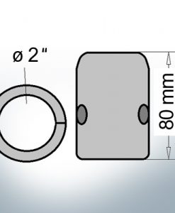 Shaft-Anodes with imperial inner diameter 2'' (Zinc)