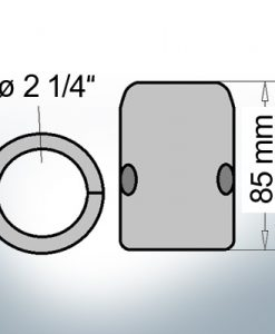 Shaft-Anodes with imperial inner diameter 2 1/4'' (AlMg10)