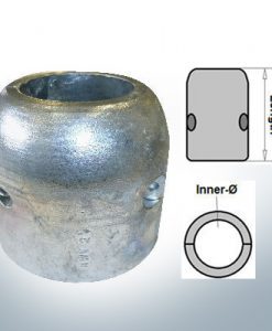 Shaft-Anodes with imperial inner diameter 2 1/4'' (Zinc)