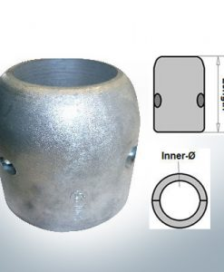 Shaft-Anodes with imperial inner diameter 2 1/2'' (Zinc)