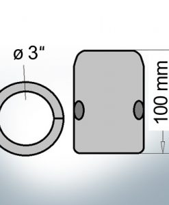 Shaft-Anodes with imperial inner diameter 3'' (Zinc)