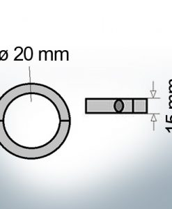Shaft-Anode-Rings with metric inner diameter 20 mm (Zinc)