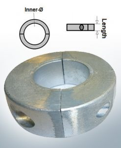 Shaft-Anode-Rings with metric inner diameter 30 mm (Zinc)