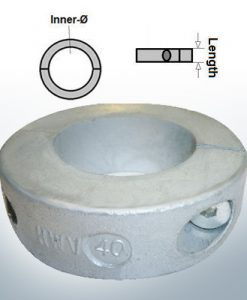 Shaft-Anode-Rings with metric inner diameter 40 mm (Zinc)