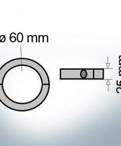 Shaft-Anode-Rings with metric inner diameter 60 mm (AlMg10)