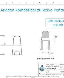 Anodes compatible to Volvo Penta | Cap-Anode 7/16
