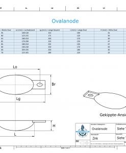 Block- and Ribbon-Anodes Oval L150/195 (Zinc) | 9334