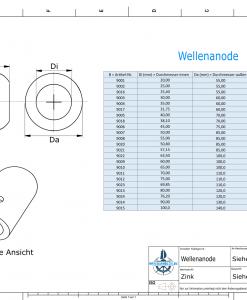 Shaft-Anode with metric inner diameter 80 mm (Zinc)   9013