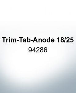 Anodes compatible to Mercury | Trim-Tab-Anode 18/25 94286 (AlZn5In) | 9708AL