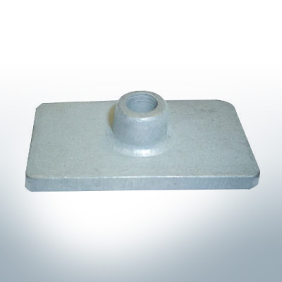 Anodes compatible to Mercury   Anode-Plate 85824 (AlZn5In)   9710AL