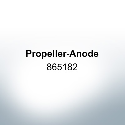 Anodes compatible to Mercury | Propeller-Anode 865182 (AlZn5In) | 9719AL