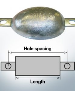 Block- and Ribbon-Anodes Oval L150/232,5 (AlZn5In) | 9330AL