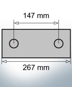 Block- and Ribbon-Anodes Block L267/147 (AlZn5In) | 9345AL