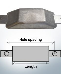 Block- and Ribbon-Anodes Flat-Anode L160/185 (AlZn5In) | 9350AL