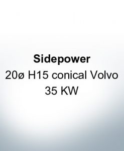 Sidepower 20ø H15 conical Volvo 35 KW (AlZn5In)   9618AL