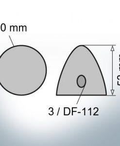 Three-Hole-Caps   suitable for DF-112 Ø90/H53 (Zinc)   9412