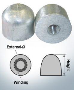 Nut-Caps M16x1,5 Ø45/H40 (Zinc)   9450
