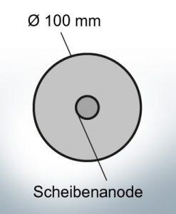 Disk-Anodes Ø 100mm   hole (AlZn5In)   9801AL