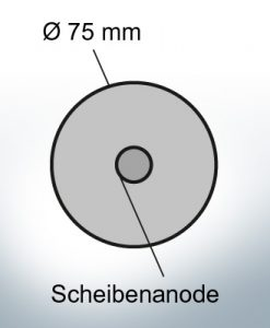 Disk-Anodes Ø 75mm   hole (AlZn5In)   9806AL