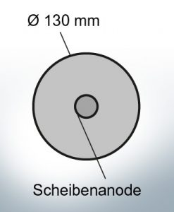 Disk-Anodes Ø 130mm   hole (AlZn5In)   9815AL