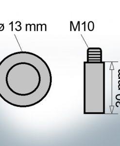 Bolt-Anodes M10 Ø13/L30 (AlZn5In)   9106AL