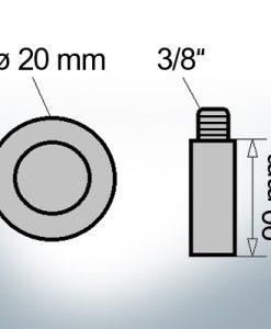 Bolt-Anodes 5/8'' Ø20/L90 (AlZn5In) | 9120AL