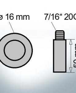 Bolt-Anodes 7/16'' 20G Ø16/L50 (AlZn5In) | 9130AL