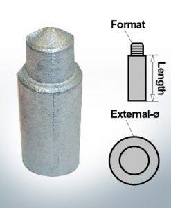 Bolt-Anodes 5 mm Press Ø5/L30 (AlZn5In)   9156AL