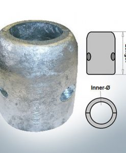 Shaft-Anode with metric inner diameter 55 mm (Zinc) | 9008