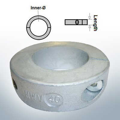 Shaft-Anode-Rings with metric inner diameter 40 mm (Zinc) | 9035