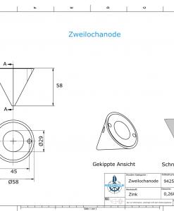 Two-Hole-Caps | Boy-Prop Ø58/H58 (Zinc) | 9425
