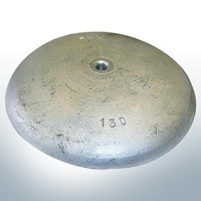 Disc anodes Ø 130mm | M8 (Zinc) | 9814