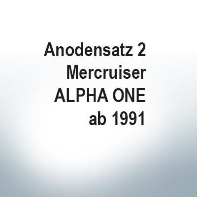 Sets of anodes | Mercruiser ALPHA ONE since 1991 (Zinc) | 9701 9703 9712 9713 9717